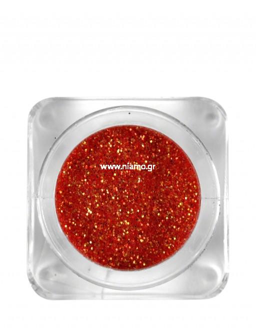 Nail Art Διακοσμητικά Νυχιών Glitter Πούδρα Coral Red