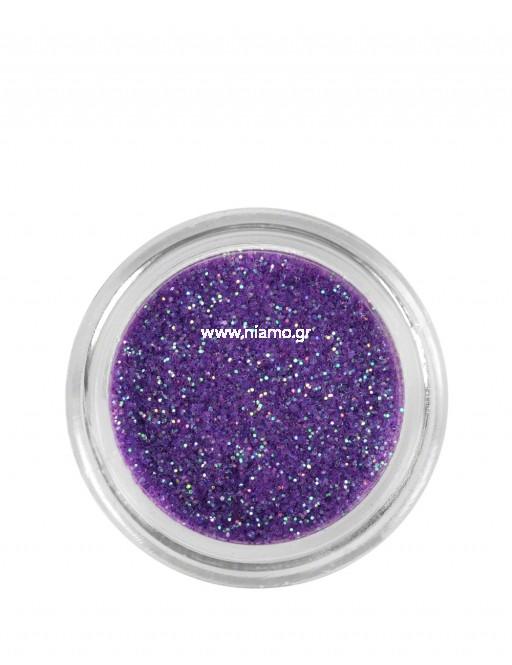 Nail Art Διακοσμητικά Νυχιών Glitter Πούδρα Lilac