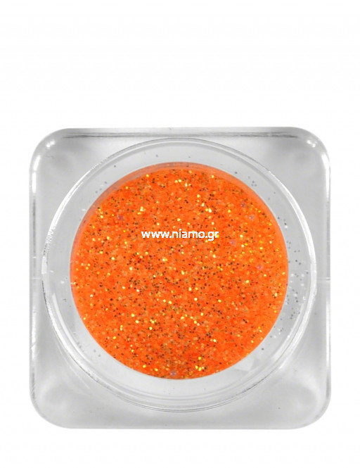 Nail Art Διακοσμητικά Νυχιών Glitter Πούδρα Πορτοκαλί