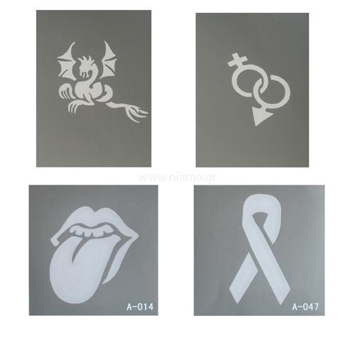 Glitter Tattoo Stencil Set 5