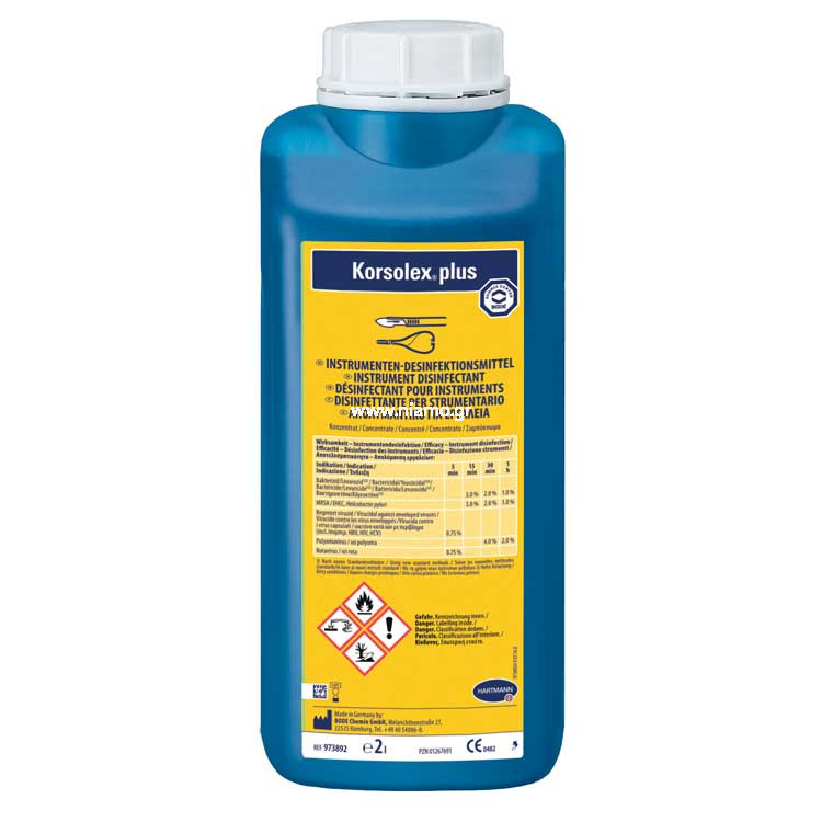 Korsolex ®plus 2lt  Απολυμαντικών Καθαριστικών Εργαλείων
