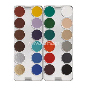 AQUACOLOR PALETTE 24 ΧΡΩΜΑΤΑ