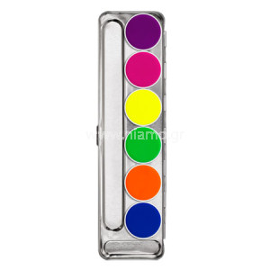 AQUACOLOR UV-DAYGLOW PALETTE 6 COLORS