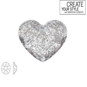 Swarovski Strass Crystal Silver Patina 2808 6.0mm Καρδούλα