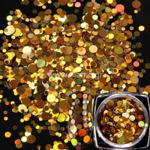 Nail Art Διακοσμητικά Νυχιών Πούλιες Χρυσό Ιριδίζον Multisize