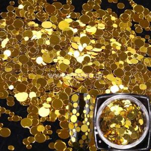 Nail Art Διακοσμητικά Νυχιών Πούλιες Χρυσό Multisize