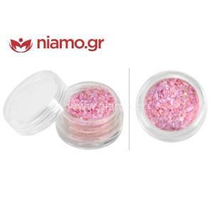 Nail Art Διακοσμητικά Νυχιών Χρωματιστά Θραύσματα Φωτεινό Ροζ