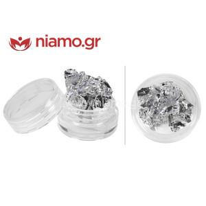 Nail Art Διακοσμητικά Νυχιών Foil Silver