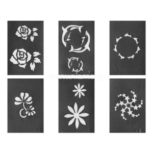 Glitter Tattoo Stencil Set 2