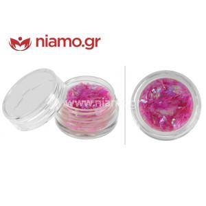Nail Art Διακοσμητικά Νυχιών Νιφάδες Ροζ