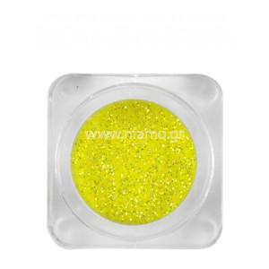 Nail Art Διακοσμητικά Νυχιών Glitter Πούδρα Νέον Yellow