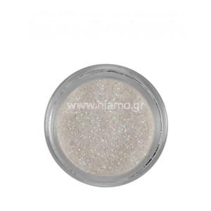 Nail Art Διακοσμητικά Νυχιών Glitter Πούδρα Άσπρο