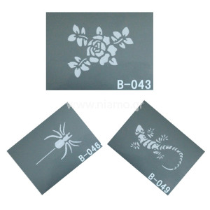 Glitter Tattoo Stencil Set 6