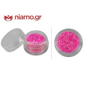 Nail Art Διακοσμητικά Νυχιών Fletter Ασημί Ροζ