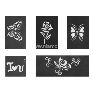 Glitter Tattoo Stencil Set 4