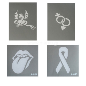 Glitter Tattoo Stencil Set 5