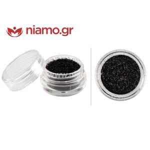 Nail Art Διακοσμητικά Νυχιών Glitter Πούδρα Μαύρο