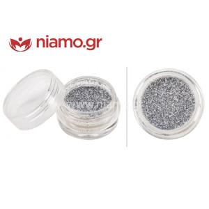 Nail Art Διακοσμητικά Νυχιών Glitter Πούδρα Ασημί