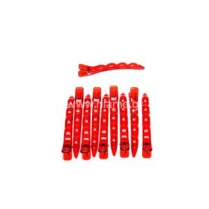 Κλίπς Κλάμερ Μεγάλο Μέγεθος Χρώματος Κόκκινο 10τεμ