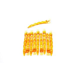 Κλίπς Μεγάλο Μέγεθος Χρώματος Κίτρινο 10τεμ