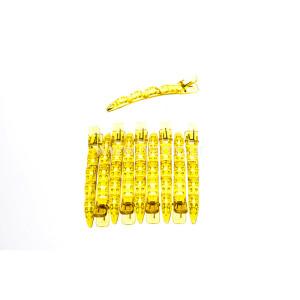 Κλίπς Μεγάλο Μέγεθος Χρώματος Κίτρινο Ανοιχτό10τεμ