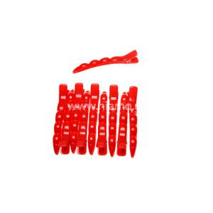 Κλίπς Μεγάλο Μέγεθος Χρώματος Κοκκινό 10τεμ
