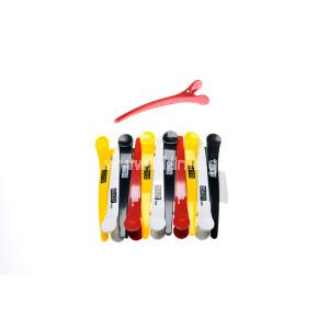 Κλίπς Κλάμερ Μεγάλο Μέγεθος Πλαστικά  Διάφορα  Χρώματα 12τεμ