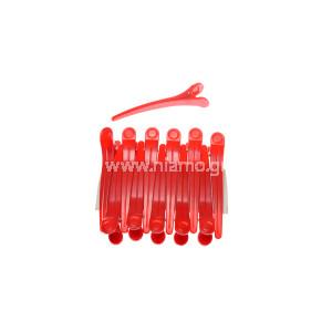 Κλίπς Κλάμερ Χρώματος Κόκκινο 12τεμ