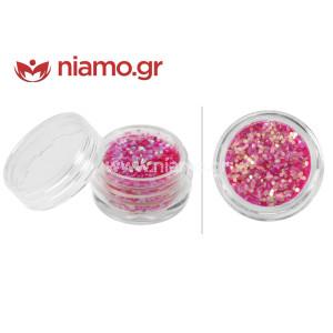 Nail Art Διακοσμητικά Νυχιών Φωτεινό Ροζ Πούλιες