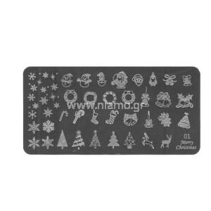 Stamping Plate Christmas 01
