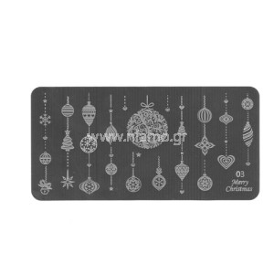 Stamping Plate Christmas 03