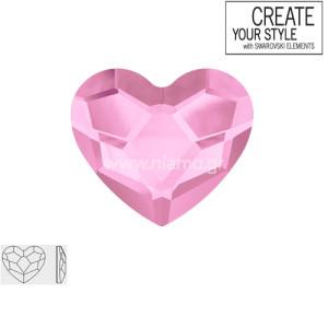Swarovski Strass Rosaline Heart 2808 6.0mm Καρδούλα