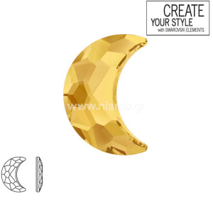Swarovski Strass Metallic-Sunshine  2813 8.0X 5.5mm Moon