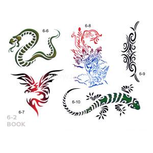 Σχέδια tattoo Σώματος BOOK  6