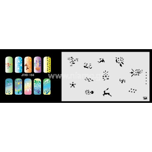 Nail Stencil Σχέδια Αερογράφου Νυχιών