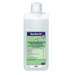 Bacillol ® AF  1000ml Αλκοολούχο απολυμαντικό επιφανείων ταχείας δράσης Επιφανείων