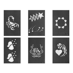Glitter Tattoo Stencil Set 3